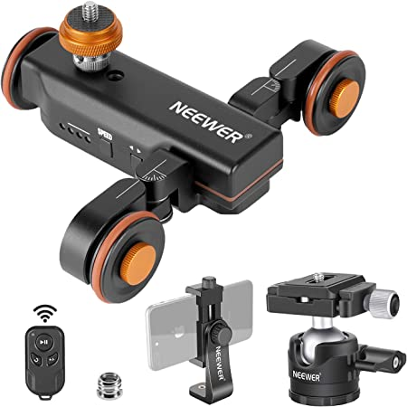 Neewer 3 Wheel Motorised Camera Video Dolly With Camera Photo