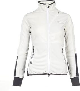 B Vertigo Judith Womens Fleece Jacket Bright White/Frost Grey L