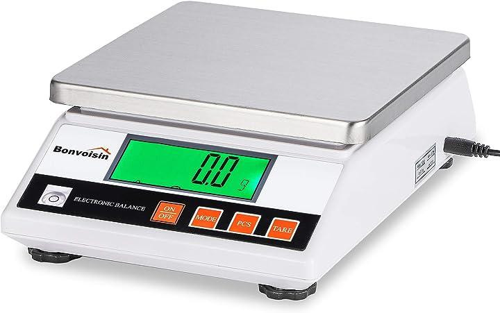 Bilancia digitale di precisione 7,5kg x 0,1g bilancia elettronica accurata bilancia da laboratorio bonvoisin XXX-19