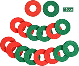 Battery Terminal Anti Corrosion Fiber Washers 16pcs, Battery Terminal Protector Pads (8 Red and 8 Green)