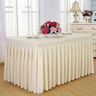 L&Y Manteles Manteles del Hotel Fría Mesa de Comedor Faldas Conferencia manteles rectangulares 120 * 60 * 75 CM Mantel Cubierta de Mesa Antependio Manteleria (Color : Beige)