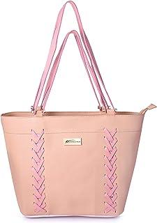 Shining Star Women's Handbag With Sling Bag (Set of 2) (ZigZag-Cream)