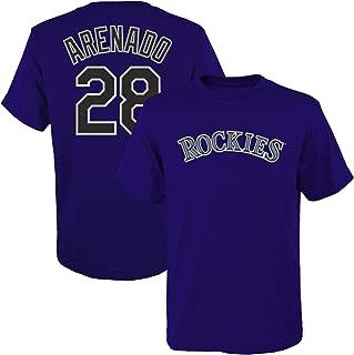 Nolan Arenado Colorado Rockies #28 Purple Youth 8-20 Name and Number Player Jersey T-Shirt (X-Large 18/20)