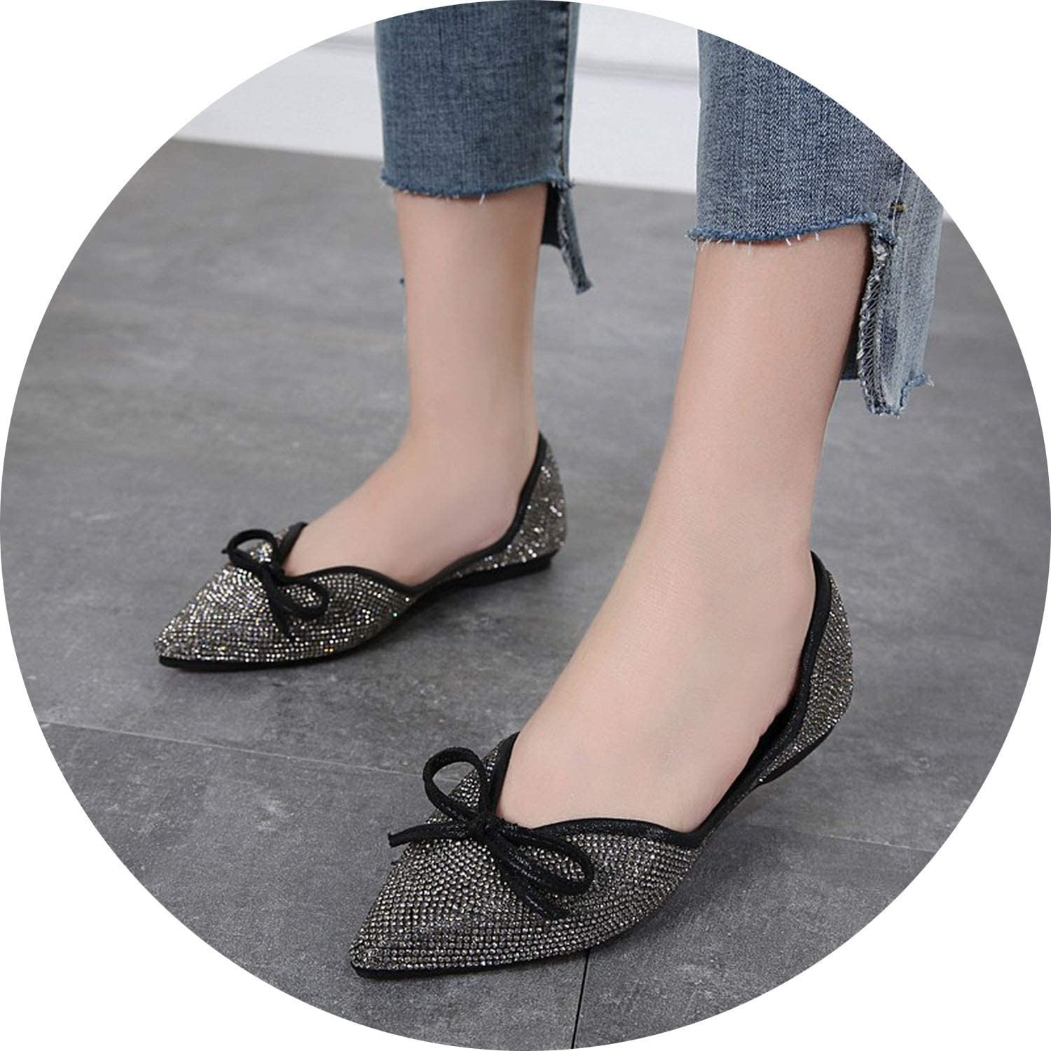 Ting room Women Casual Flat shoes Woman Pointed Toe Female Fashion Slip on Wedding Party Sweet Flats shoes
