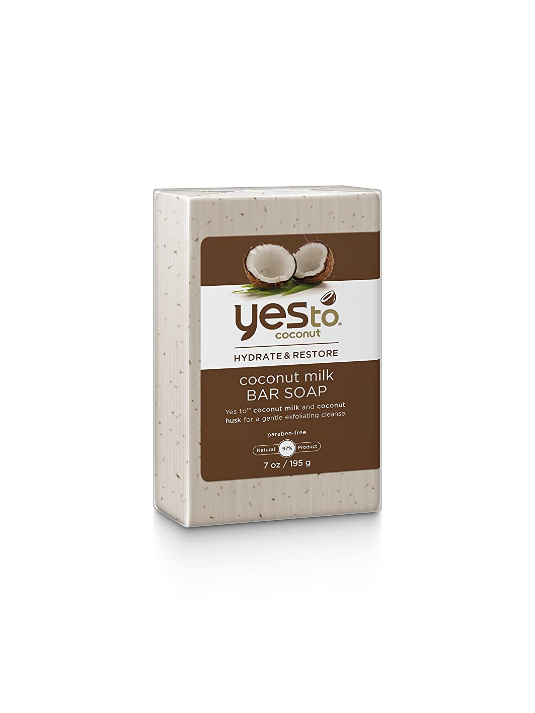 窓ポスト印象派管理者Yes To ココナッツ水和物および復元牛乳石鹸、ココナッツ、7.0オンス