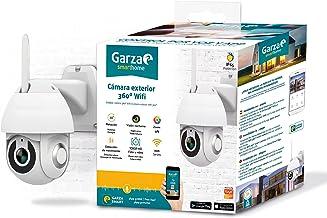 Garza Smarthome 401270 Smarthome WiFi buitencamera 360 voor veiligheid, HD 1080p, nachtzicht en zoom, spraak- en app-bedie...