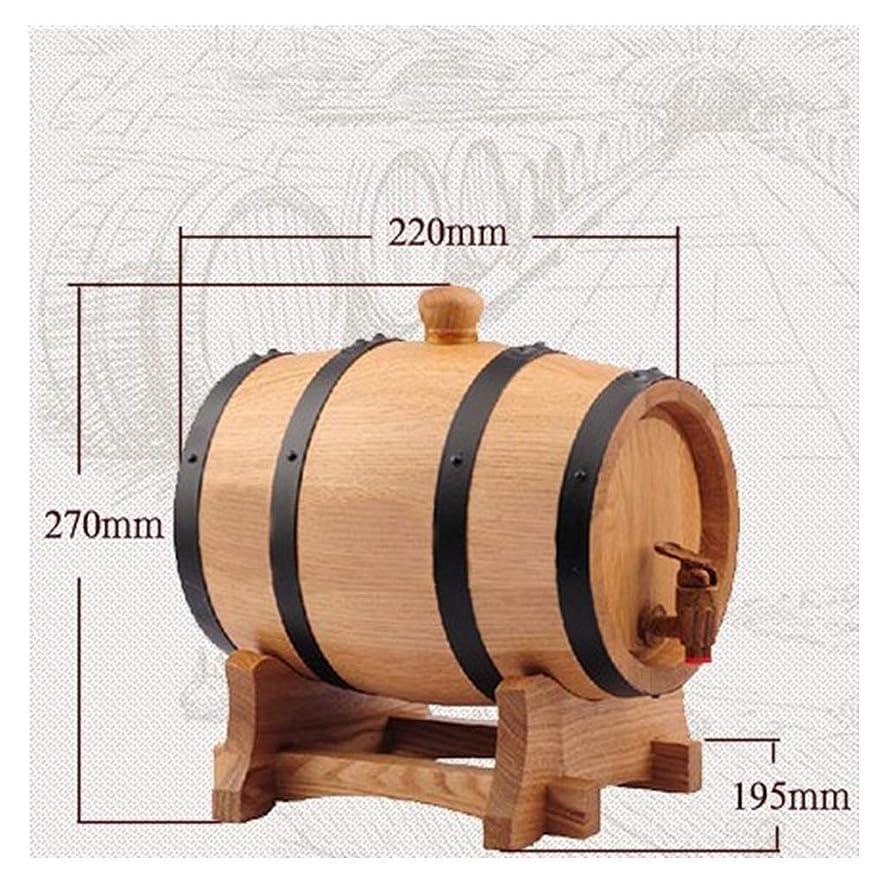 インカ帝国オートマトン受け取るワイン樽 オーク樽、 純粋なオーク製の3L収納バケット ワインの醸造またはウイスキーリキュールの保存に適しています ウイスキー樽 (Color : Natural color, Size : 3L)
