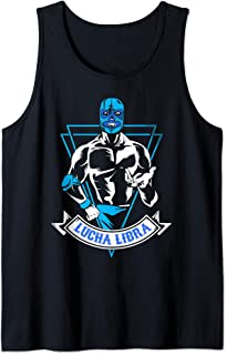 Lucha Libre Mask Mexican Blue Demon Fighter Gift Tank Top