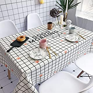 Simple Modern kitchen/home tools Good Morning Pattern Waterproof Anti-scalding Rectangle Cotton and Linen Table Cloth, Sim...
