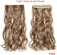 24inch Curly 3/4 Full Head Clip in one piece Hair Natural Synthetic hairpiece,8#/25#,24inches,United States