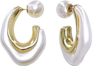 أقراط الأوركيد الفن الأبيض والأسود للنساء بنات مطلية بالذهب استرخى إسقاط الأزياء الهندسية بيان المجوهرات