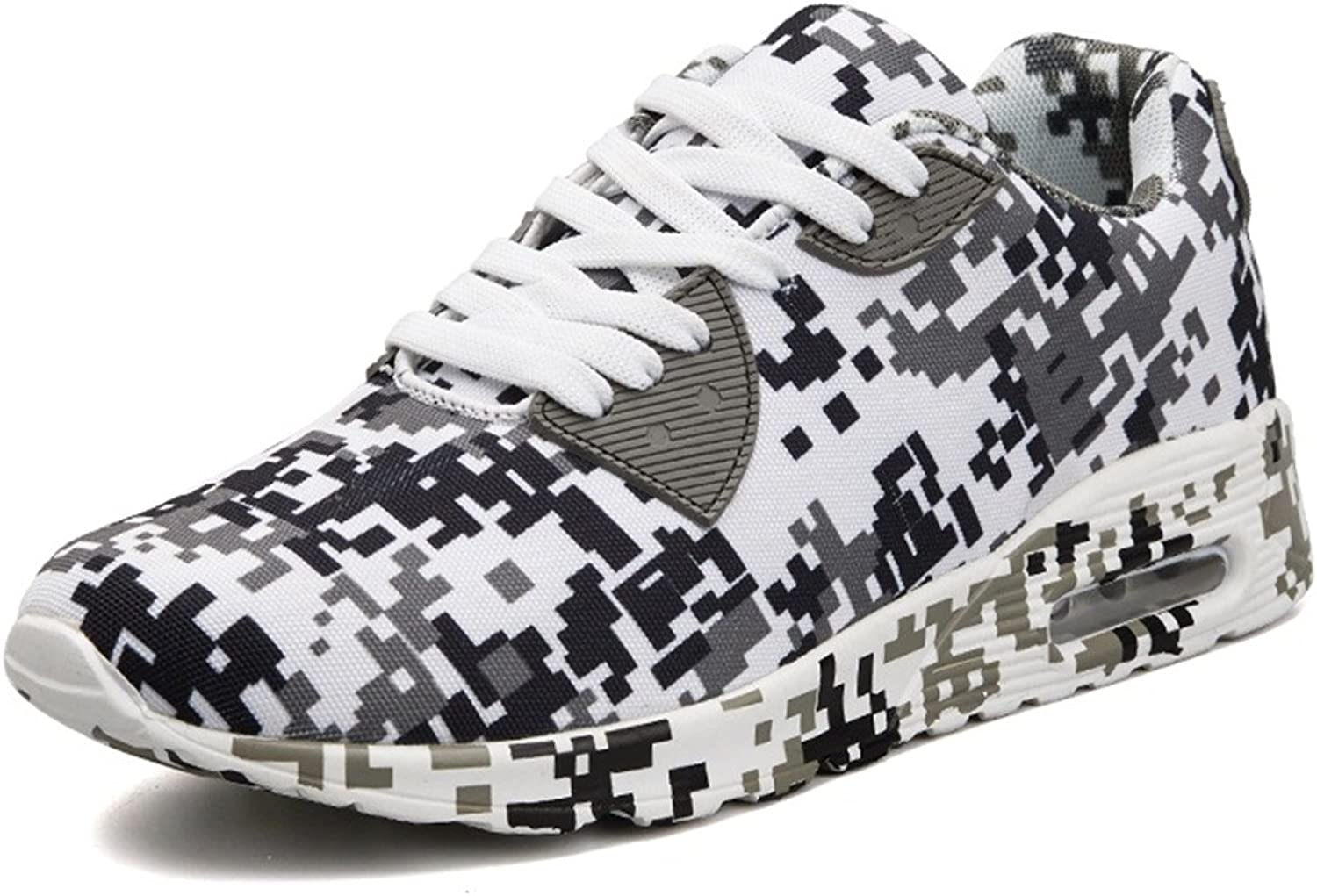 Beeagle Womens Mens Unisex Camo Fashioin Sneakers Camouflage Height Increase Walking Running shoes 36-46