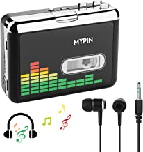 USB Cassette to MP3 Converter, Portable Cassette Audio Music Player Tape-to-MP3 Converter..