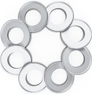 Discagenda Aluminum Disc-Binding Discs 42mm 1.65in 8 Piece Set Silver