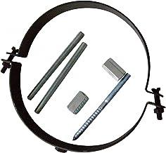 Kamino Flam buishouder (buisklem inclusief schroevenset voor montage, houder van staal met hittebestendige Senotherm coati...