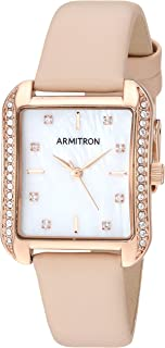 Armitron Women's Swarovski Crystal Accented Leather Strap Watch