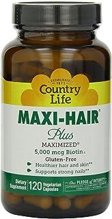 Country Life - Maxi-Hair Plus with 5000 mcg of Biotin - 120 Vegetarian Capsules