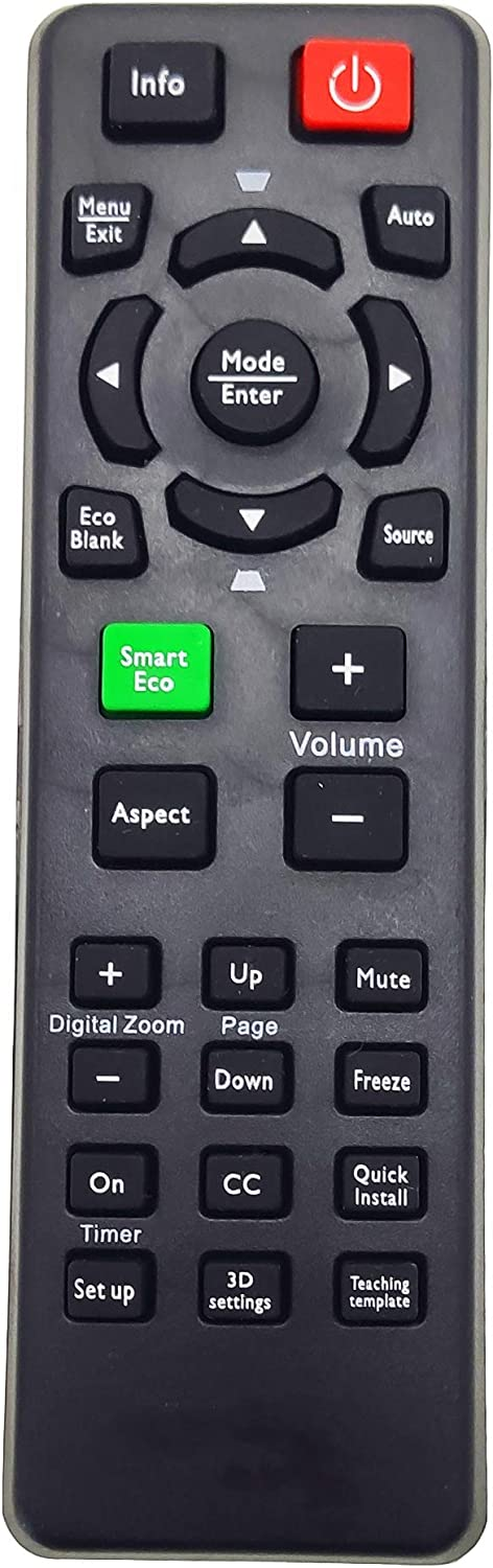 INTECHING 5J.J6L06.001 Projector Remote Control for BenQ MS517, MS521, MS524, MS527, MW519, MW523, MW663, MX504, MX505, MX518, MX520, MX522, MX618ST, MX661, MX662, MX620ST, MS619ST, MW571H, MW621ST