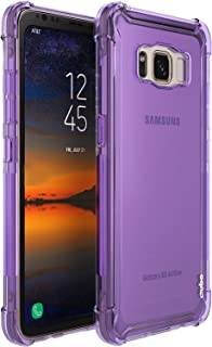 Ouba Galaxy S8 Active Case, Anti-Scratches Slim Flexible TPU Gel Premium Soft Bumper Rubber Protective Case Cover for Samsung Galaxy S8 Active - Purple