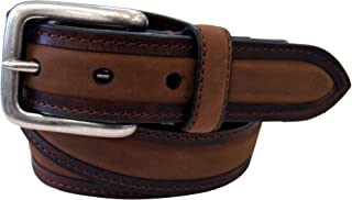 Mens 1 1/4 in. Oil Tan Belt With Nubuck Padded Inlay