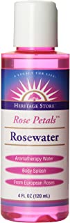Heritage Store Body Oil, Rosewater, 4 Ounce