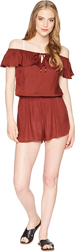 Roxy - Western Holiday Romper Cover-Up