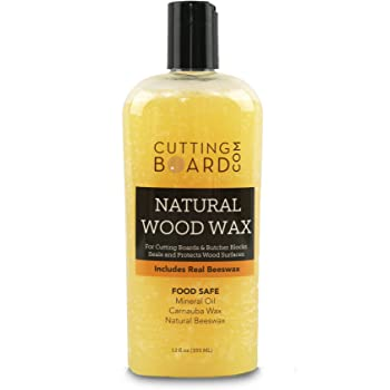 Cutting Board Wax and Conditioner, Protects Wood Countertops and Butcher Blocks - Made in USA with Real Beeswax 12oz