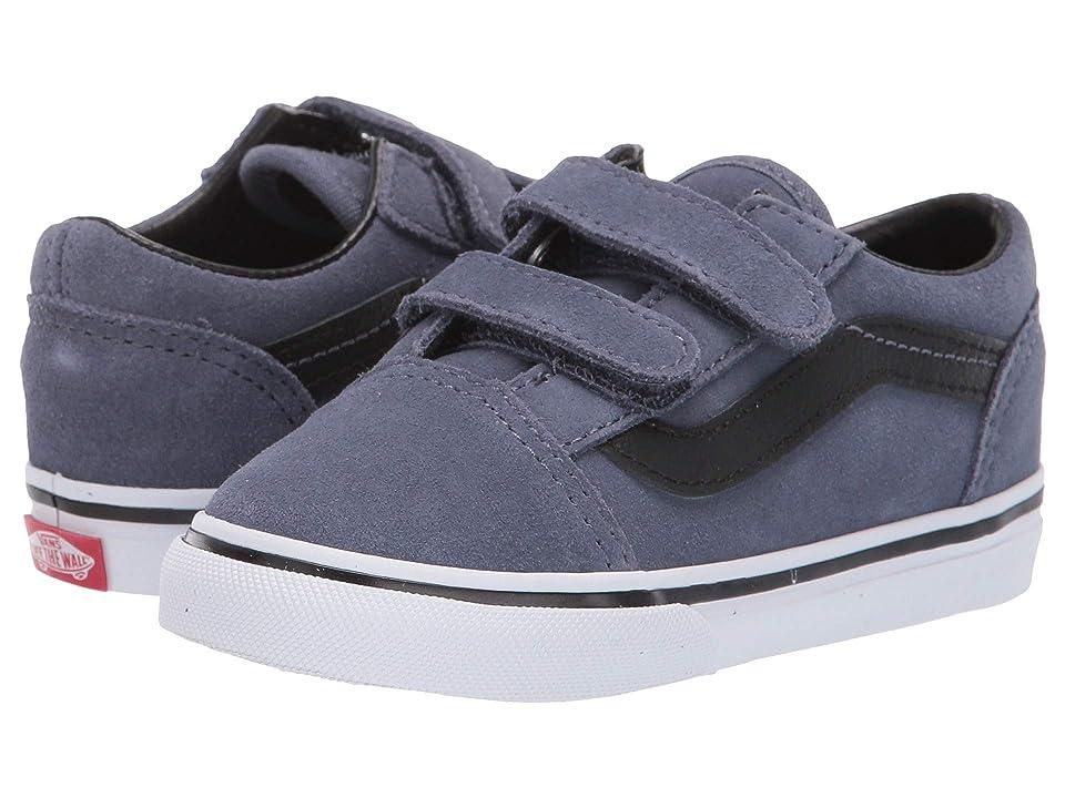 Vans Kids Old Skool V (Infant/Toddler) ((Suede) Grisaille/Black) Boys Shoes
