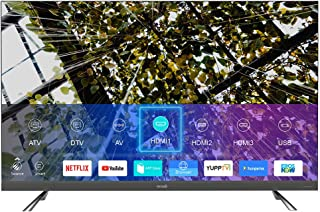 50 Inch 4K UHD Smart LED TV With Digital Netflix And Youtube evvoli 50EV350US Black