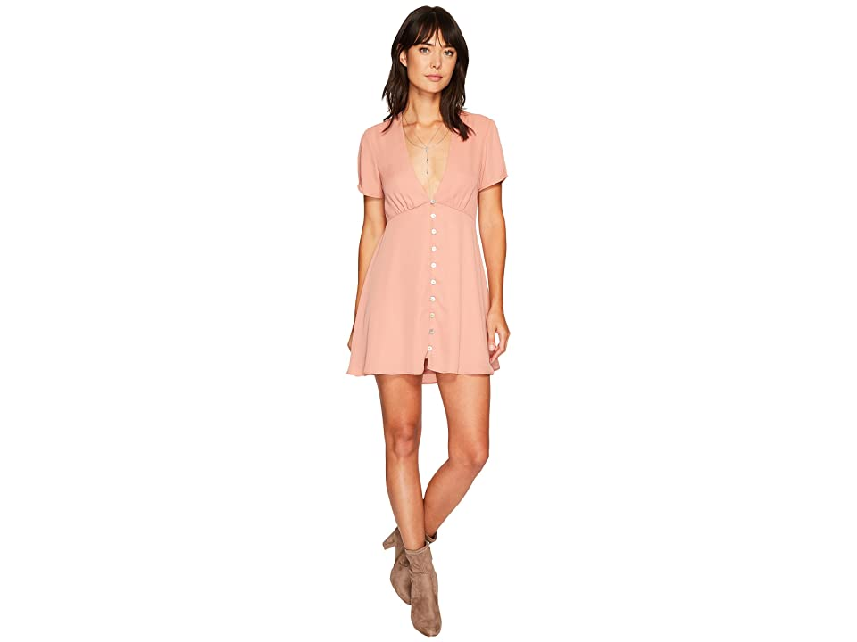 Show Me Your Mumu Robyn Babydoll Dress (Rustic Mauve Crisp) Women
