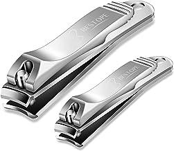 BESTOPE Nail Clippers Set Fingernail & Toenail Clipper Cutter, 2PCS Stainless Steel..