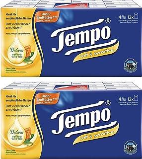 Tempo Handkerchiefs - Tempo Pocket Facial Tissues Plus Soft & Sensitive, 24 x 9 pcs.