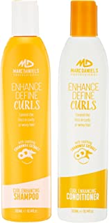 Perfect Curls Shampoo & Conditioner Set, Sulfate Free for Curly Hair, Anti-Frizz, Hydrating Adds Bounce & Shine - ProVitamin B5 Repairs Dry, Color Treated Hair by MARC DANIELS Professional
