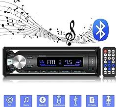 ODLICNO Nuevo Estéreo para Auto Reproductor Multimedia Digital de MP3 para Coche de 12V Tarjeta de Radio FM Receptor de Radio de Estado Sólido Am con Bluetooth Puerto USB y Ranura para Tarjeta SD, Negro