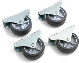 Design61 4 x kastbokwielen, bedladerol, meubelwielen, 50 x 19 mm, met zacht loopvlak
