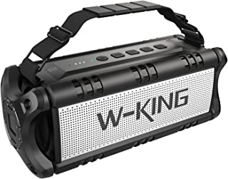 50W(70W Peak) Wireless Bluetooth Speakers Built-in 8000mAh Battery Power Bank, W-KING Outdoor Portable Waterproof TWS Speaker, Powerful Rich Bass Loud Stereo Sound for Party/Camping/Gym/Phone Charging