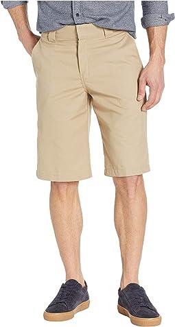 "13"" Flat Front Active Waist Shorts Regular Fit"