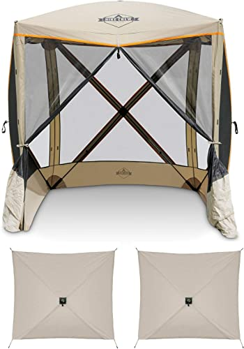 wholesale Hike Crew 4-Panel Pop-Up Screen House Gazebo 70x70 Inch – Instant Setup 4-Sided Hub Tent UV Resistant (SPF 50+) Fits 5 People Heavy Duty 210D Material – Includes Carry lowest Bag 2021 & Ground Stakes outlet sale
