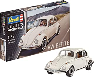 Revell- Volkswagen Maqueta VW Beetle, Kit Modelo, Escala 1:32 (7681)(07681), Color Blanco, 13,0 cm de Largo (