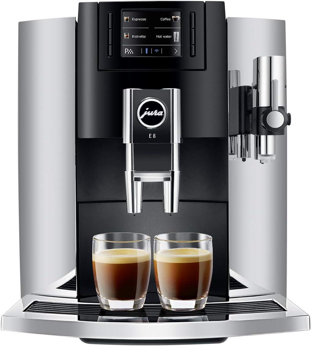 JURA E8 Chrome Automatic Coffee Machine