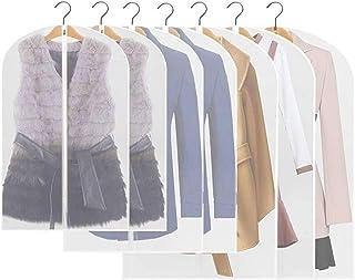 HEPAZ Housses de Vêtements, Lot de 10 Lavable Transparent Etanche Anti-Poussière Housses de Protection pour Chemise/Costum...