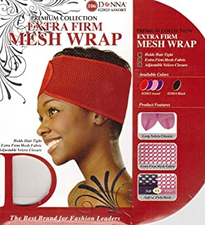 Donna's Premium Extra Firm Mesh Wrap Holds Hair Tight (Random Color)