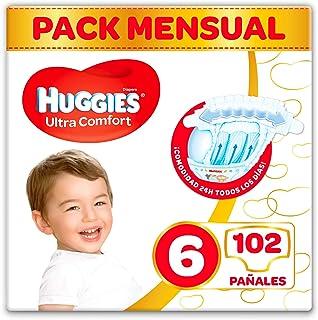 Huggies Ultra Comfort Pañales Talla 6 (15-30 kg), 3x 34 =102 pañales