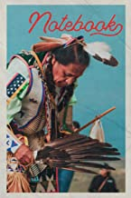 Notebook: Native American Dance Costumes Practical Composition Book Journal Diary for Men, Women, Teen & Kids Vintage Retro Design Feather Headdress