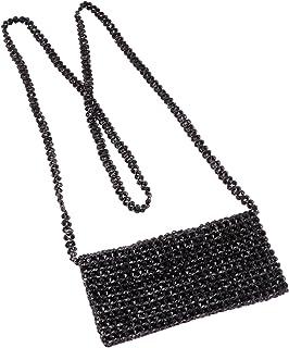 Pearl Beaded Cross Body Mobile Bag for Girls and women. Sling Bag for Women Evening Party moti Bag.