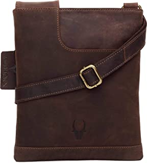 Wildhorn Genuine Leather Hand-Crafted Messenger Bags, Brown, 35 cm - WHMB532