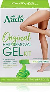 Nad's Wax Kit Gel, Wax Hair Removal For Women, Body+Face Wax, 6 Ounce