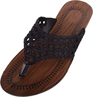 ABSOLUTE FOOTWEAR Womens Slip On Summer/Holiday/Beach Sandals/Shoes with Toe Posts