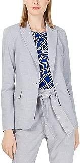 Womens Petites Striped Suit Separate Jacket Navy 2P
