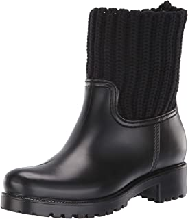 Skechers POURING - Short Knit Collar Rainboot - Waterproof outsole womens Rain Boot